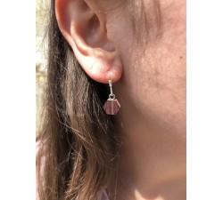 Boucles d'oreilles l'Hexagone - Argent 925