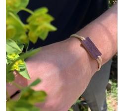 L'Estampe - Bracelet vrillé BEIGE