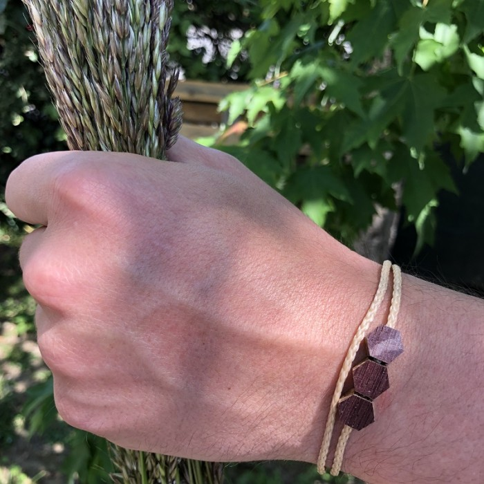 L'Hexagone - Bracelet vrillé BEIGE