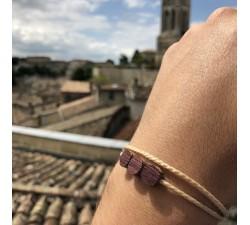 Les Berries - Bracelet vrillé BEIGE