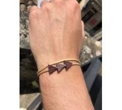 La Grappe - Bracelet vrillé BEIGE