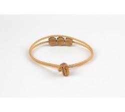 L'Hexagone - Bracelet classique BEIGE