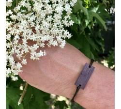 L'Estampe - Bracelet vrillé MARRON