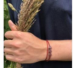 La Grappe - Bracelet vrillé ROUGE